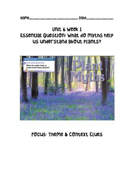Wonders-Unit 6 Week 1 Comprehension Packet
