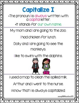 1st Grade Wonders Unit 6 Week 1 Grammar Charts and Assessments