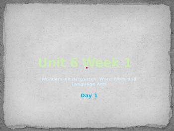 Wonders Kindergarten Unit 6 Week 1
