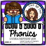 Wonders Unit 6 Week 1 Phonics: Variant Vowels Digraphs: oo, u_e, ew, ue, ui,& ou