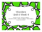 Wonders Unit 6 Week 4