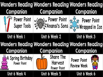 Wonders Unit 6 Weeks 1-6 Power Point Bundle