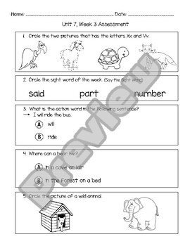 Wonders Unit 7 Assessment Bundle