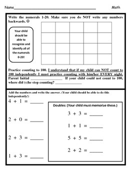Wonders Unit 7 Week 3 Reading/Math Homework (Bear Snores On)