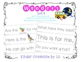 Reading Wonders High-Frequency Word Sentence Strips (Unit 8)