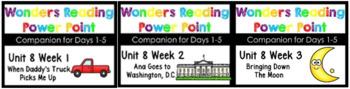 Wonders Unit 8 Power Points BUNDLE Weeks 1-3 Kindergarten