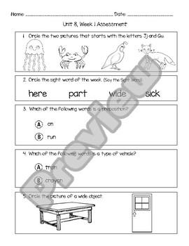 Wonders Unit 8, Week 1 Assessment