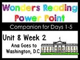 Wonders Unit 8 Week 2 Kindergarten Power Point. Ana Goes To Washington, D.C.