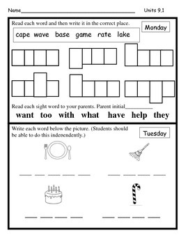 Wonders Unit 9 Reading/Math Homework Bundle