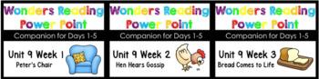 Wonders Unit 9 Week 1-3 BUNDLE Kindergarten Power Points