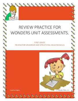 Wonders Unit Assessments Review Sheets