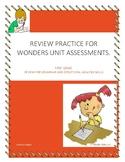 Wonders Unit Assessments Review Sheets
