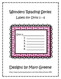 Wonders Unit Labels for All Grades