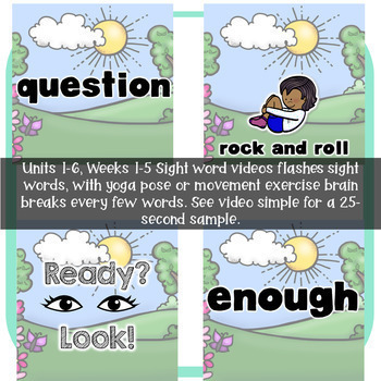 Wonders Units 1-6 Get Up and Learn Sight Word Practice Bundle