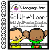 Wonders First Grade Units 1-6 Sight Word Practice Bundle Get Up and Learn