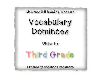 Wonders Units 1-6  Vocabulary Dominoes (McGraw-Hill)