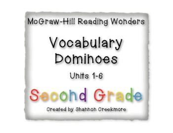 Second Grade Wonders Units 1-6 Vocabulary Dominoes (McGraw-Hill Wonders)