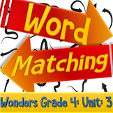 Wonders Vocab Word Matching Review/Pre-made Test | Grade 4 Unit 3