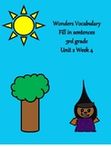 Wonders Vocabulary  - 3rd grade Unit 2 Week 4