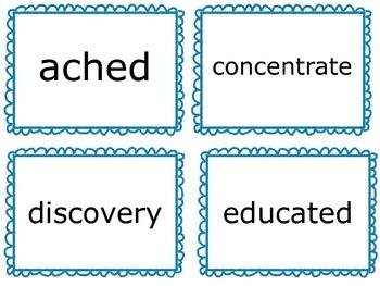 Wonders Vocabulary Cards- Third Grade Unit 1