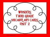 Wonders Vocabulary Cards- Third Grade Unit 2