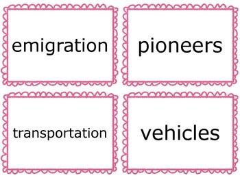 Wonders Vocabulary Cards- Third Grade Unit 3