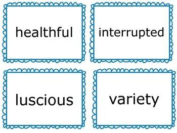 Wonders Vocabulary Cards- Third Grade Unit 4