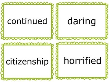 Wonders Vocabulary Cards- Third Grade Unit 5
