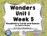 Wonders Vocabulary Cards and Games Unit 1 Week 5