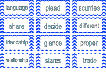Wonders Vocabulary Cards for 2nd Grade