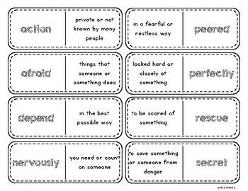 Wonders Vocabulary Dominos 2nd Grade