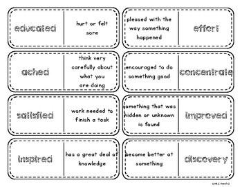 Wonders Vocabulary Dominos 3rd Grade