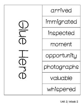 Wonders Vocabulary Foldable Unit 2