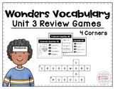 Wonders Vocabulary: Fourth Grade Unit 3 Review Games