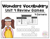 Wonders Vocabulary: Fourth Grade Unit 4 Review Games