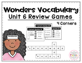 Wonders Vocabulary: Fourth Grade Unit 6 Review Games