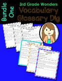 Wonders Vocabulary Glossary Dig - Bundle 1 (3rd Grade)