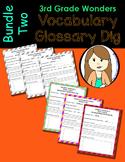 Wonders Vocabulary Glossary Dig - Bundle 2 (3rd Grade)