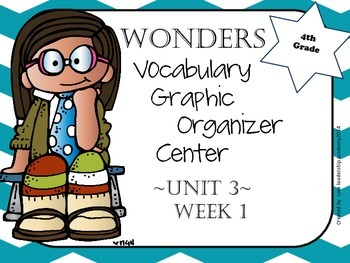 Wonders Vocabulary  Graphic Organizer Center Unit 3 Week 1