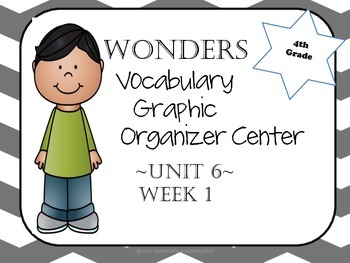 Wonders Vocabulary Graphic Organizer Center Unit 6~Grade 4