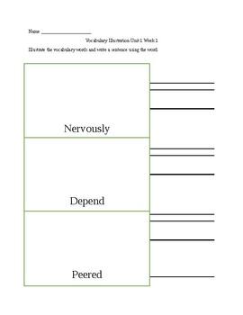 Wonders Vocabulary Interactive Worksheet (EDITABLE!)