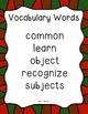 Get Focused: Wonders Vocabulary Posters