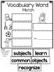 Wonders, Vocabulary Packet, Unit 1, 1st Grade