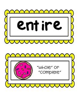 Wonders, Vocabulary Packet, Unit 5, 1st Grade