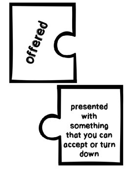 Wonders Vocabulary ~ Puzzle Words Set ~Unit 3 Week 1-5