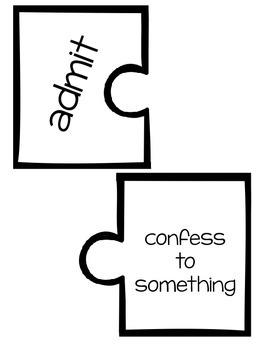 Wonders Vocabulary ~ Puzzle Words~Unit 5 Week 1