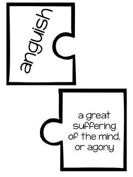 Wonders Vocabulary ~ Puzzle Words~Unit 6 Week 1