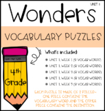 Wonders Vocabulary Puzzles: Unit 1