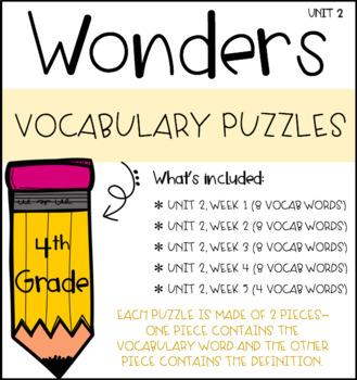 Wonders Vocabulary Puzzles: Unit 2