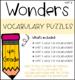 Wonders Vocabulary Puzzles: Unit 2